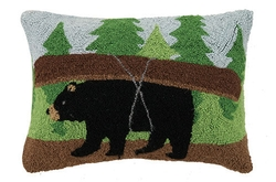 Bear Canoe Pillow