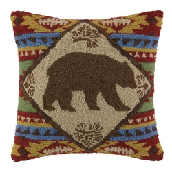 Indian Bear Hook Pillow