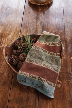 Happy Trails Jacquard Dish Towel