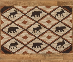 Rustic Retreat Hooked Rug - 24