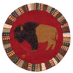 Buffalo Round Rug - 36