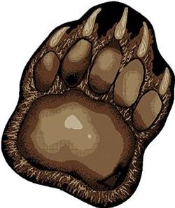 Bear Trail Paw Rug