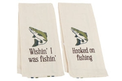 Fishing Dishtowel - Set of 2