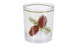 Pinecone Old Fashioned or Juice Glasses - Set of 4