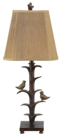 Bronze Bird Table Lamp