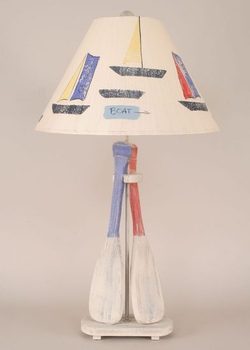 Boat Paddle Table Lamp