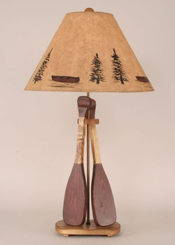 Canoe Paddle Table Lamp