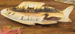 Lakeside Lodge 3-D Fishing Candy Plate