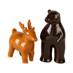 Deer and Bear Salt & Pepper Shakers