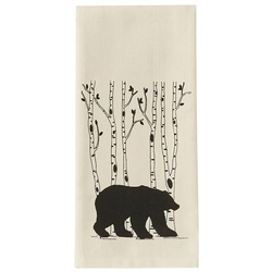 Bear & Birch Tree Dish Towel