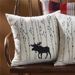 Moose & Birch Tree Pillow - 16