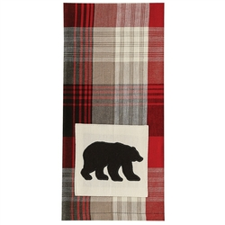 Champlain Bear Applique Dish Towel