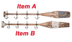 Boat Oars with Anchor Hooks