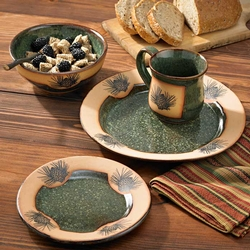 Rustic Pinecone Dinnerware Set