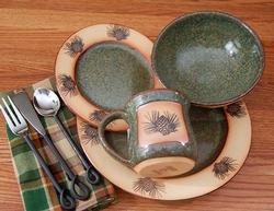 Rustic Pinecone Dinnerware Set