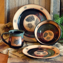 Forest Lodge Pinecone Dinnerware