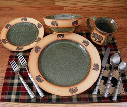Rustic Fishing Bear Dinnerware