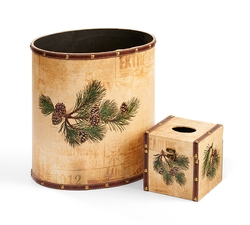 Pinecone Bath Set