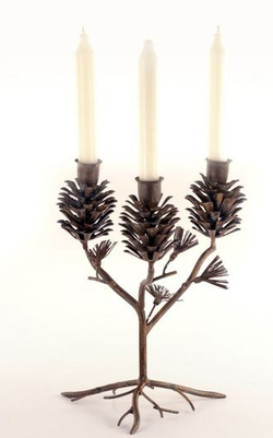 Pinecone Candle Holder