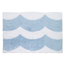 Blue Wave Bath Rug