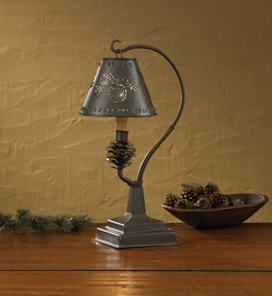 Pinecone Lamp with Shade - 15