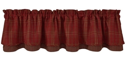 Jackson Hole Layered Lined Valance