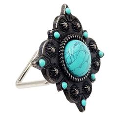 Stone Napkin Ring - Turquoise - Set of 6