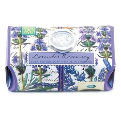 Lavender Rosemary Glass Soap Dish and Soap Set